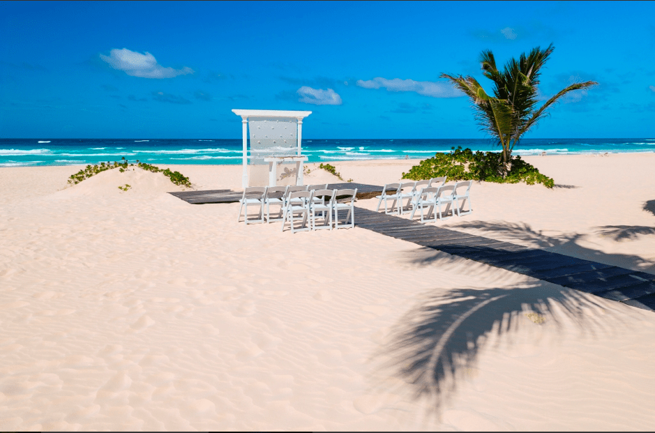 HRH Punta Cana Beach Wedding Setup