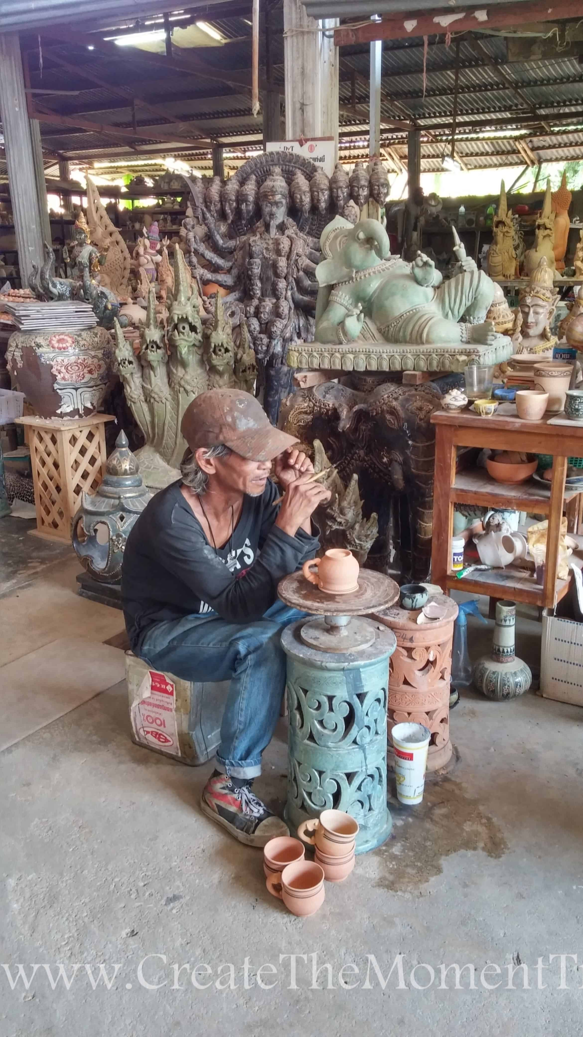 Pottery Artisan in Northern Thailand by Create The Moment Travel