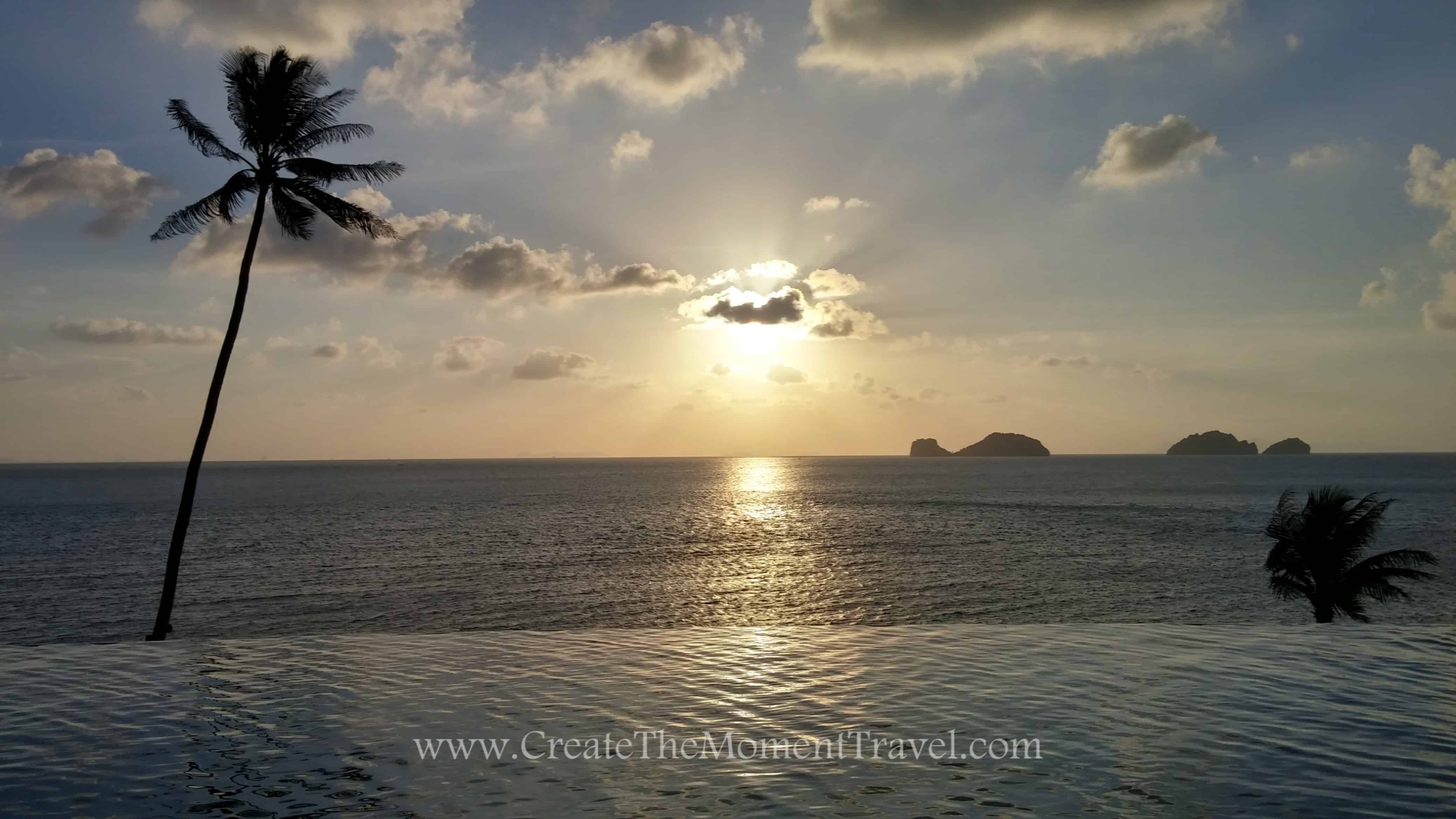 Sunset from Koh Samui Thailand by Create The Moment Travel