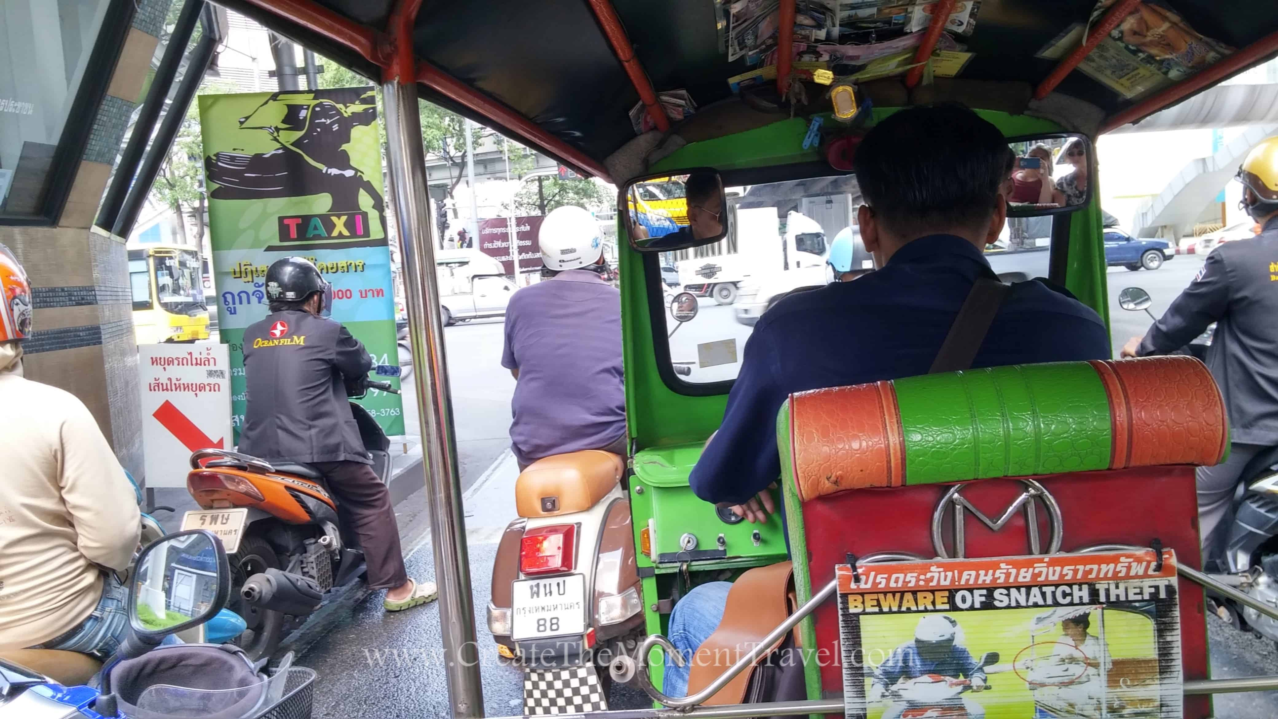 Tuk Tuk in Bangkok Thailand by Create The Moment Travel