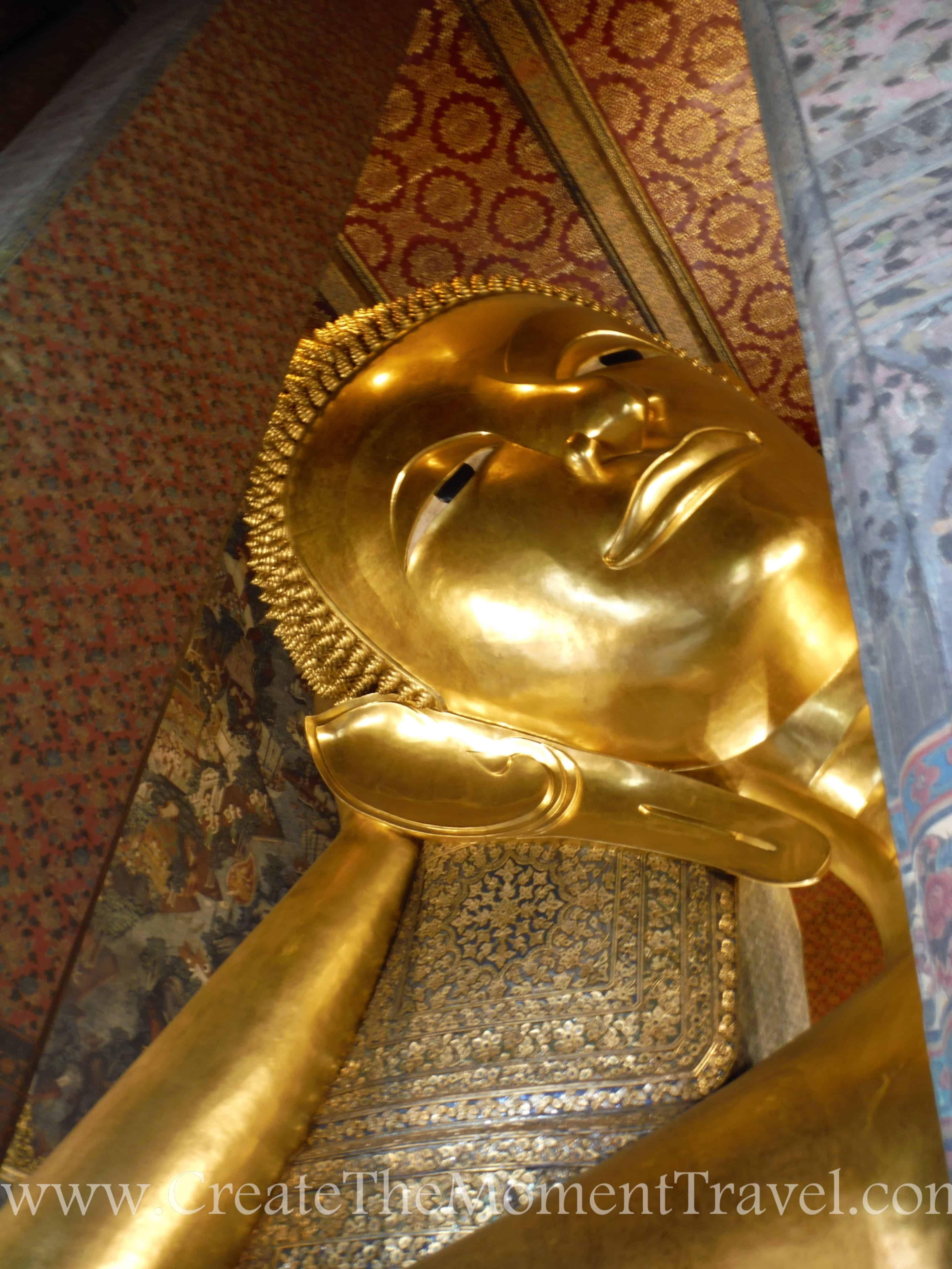 Reclining Buddah Grand Palace, Bangkok Thailand by Create The Moment Travel