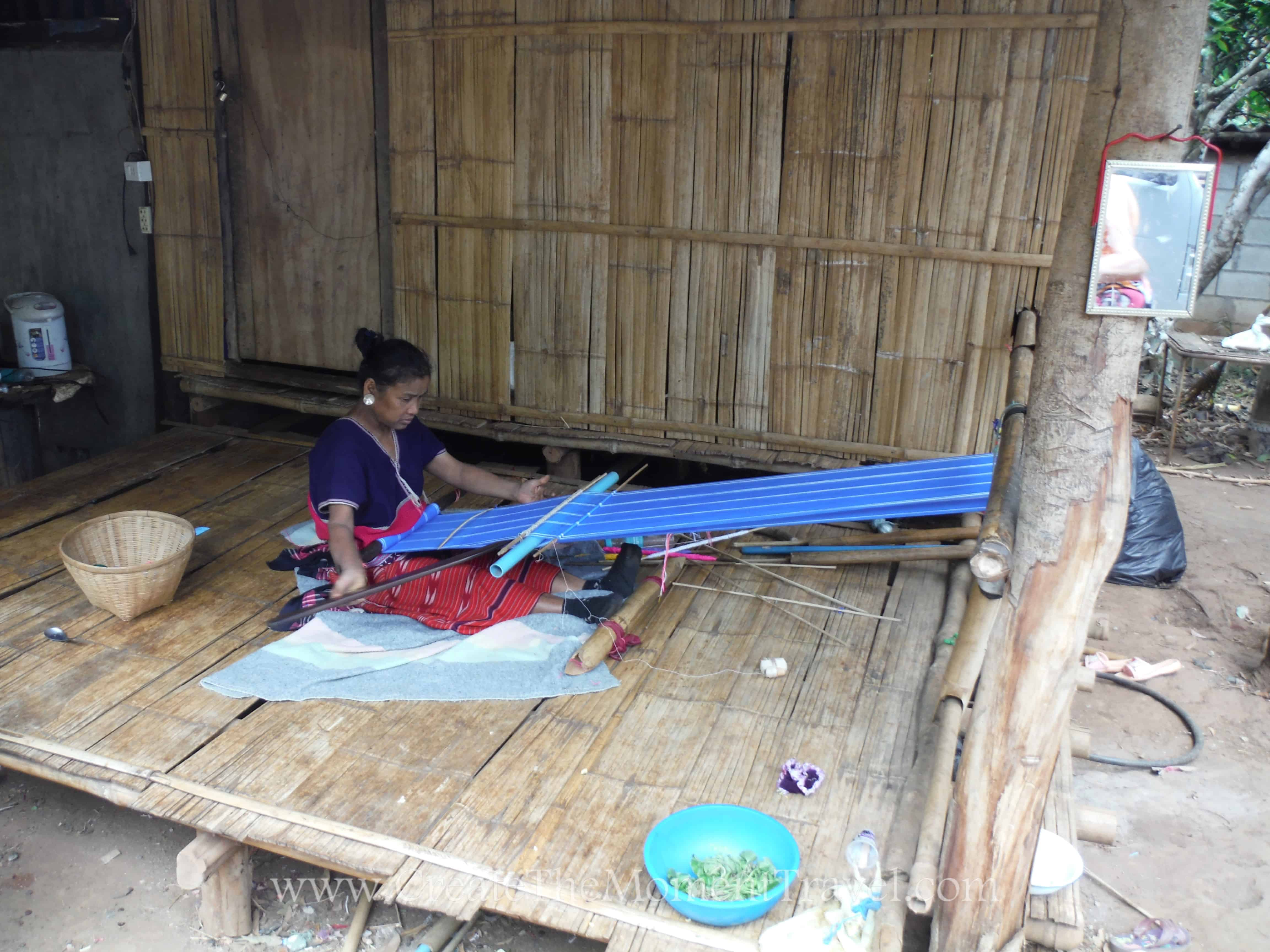 Cloth Weaving in Northern Thailand by Create The Moment Travel