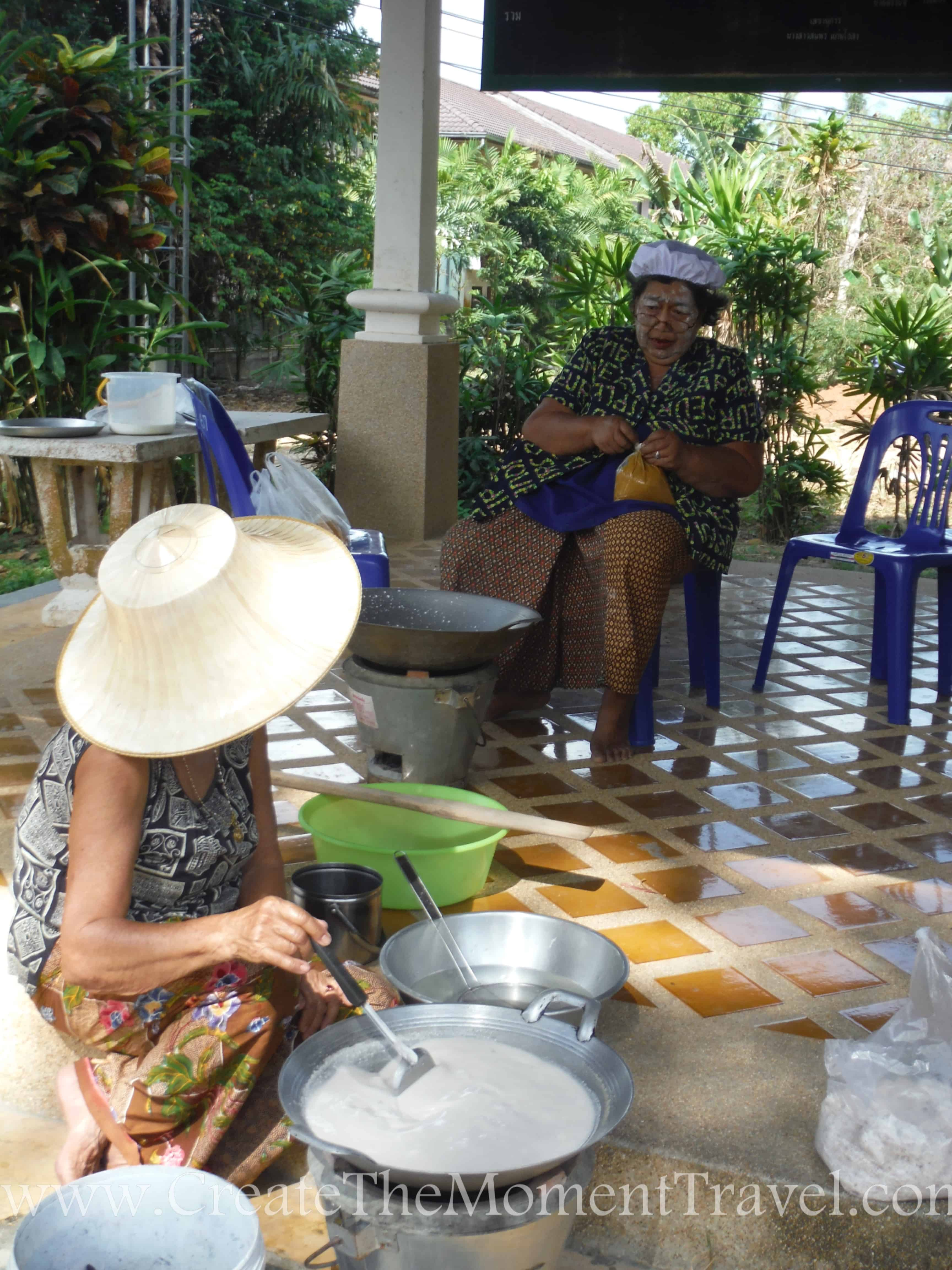 Local Women Preparing Roadside Food in Koh Samui Thailand by Create The Moment Travel